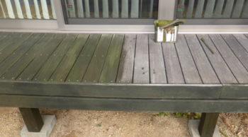 5年経過したウリンのウッドデッキに塗装をしてきました