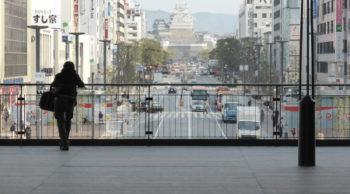 姫路駅周辺のウッドデッキ その1