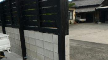 杉防腐加工材ウッドフェンス補助金仕様・・・香川県善通寺市の施工例