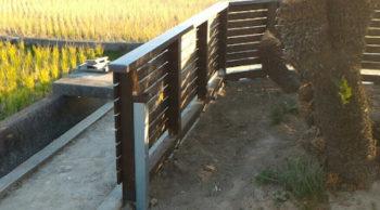 桧防腐加工材ウッドフェンス補助金仕様・・・香川県高松市の施工例