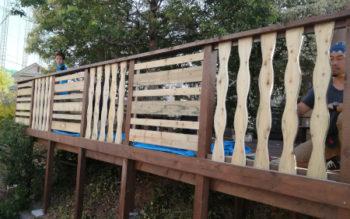 和歌山県有田郡で、SPF(防腐加工)のウッドデッキを組んできました その4