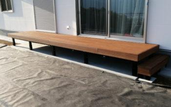 夏暑くない再生木材のウッドデッキ その3