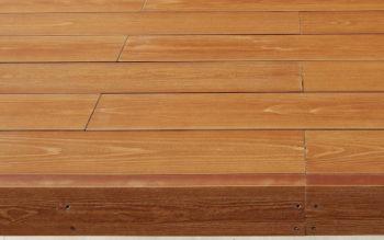 夏暑くない再生木材のウッドデッキ その1