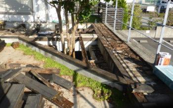 奈良県生駒市で、ウエスタンレッドシダーのウッドデッキの補修工事をしてきました その3