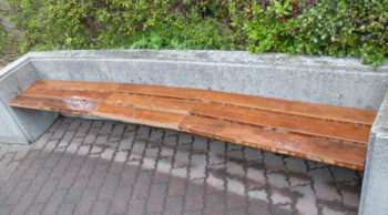 クマルでベンチを作りました